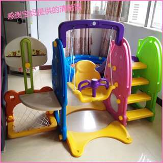 5in1 Family-style child Chiaki slides combination,swing,2 basketball ring,soccer Guarantee original Very thick
