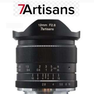 7Artisans 12mm F2.8 APS-C Lens for Sony E-Mount & Fuji XF Mount