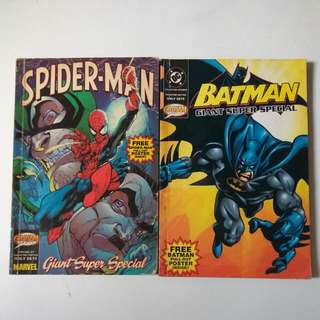 Batman And Spiderman Comic Books