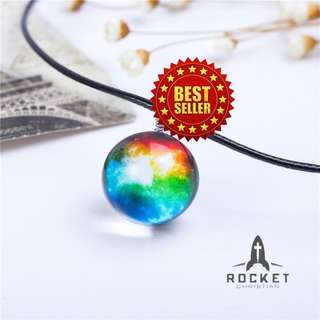 Rainbow Galaxy Crystal Ball Necklace (Available Now)