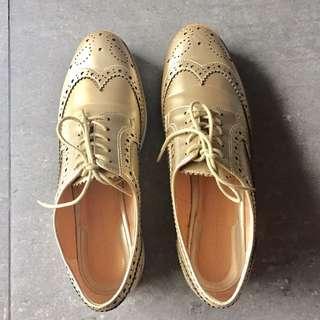 Zara Metallic Gold Shoes