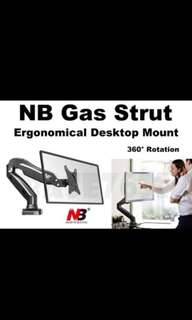 North Bayou F80 Gas-Strut Flexi Mount Desktop