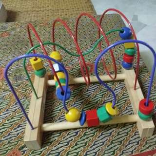 Wooden educational toy (IKEA) bead roller coaster