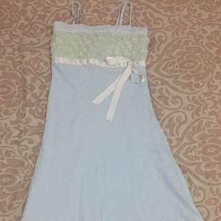 Spaghetti Strap Light Blue Dress