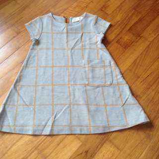 Zara Grey Checkered Dress