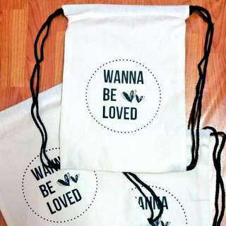 Wanna Be Loved string bag