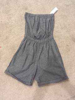 American Apparel grey jumpsuit
