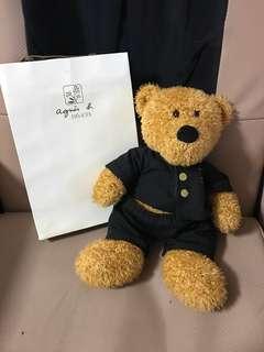 全新 agnes b 🐻 bear doll 熊仔 公仔
