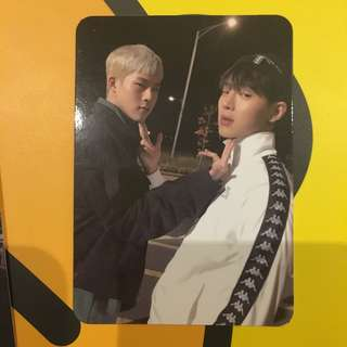 Monsta X Shownu and Jooheon The Code Unit Photocard