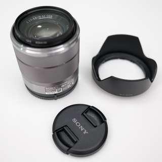Sony E mount Zoom Lens 18-55mm f/3.5-5.6 OSS Lens (Silver) Nex