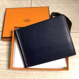 Hermes Men Wallet / Money Clip - Blue Sapphire