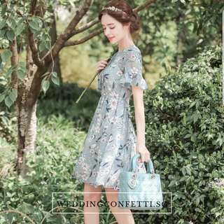 *Brand New* Spring Blossoms Camellia Chiffon Floral Dress