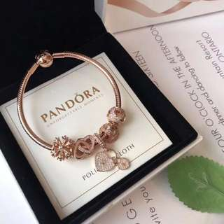 🎉PANDORA💋【潘多拉 】 925純銀手鍊!16厘米~22厘米 🎊配送專櫃包裝盒 一件代發!✈️✈️✈️