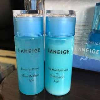 Laneige (Light) skin refiner & emulsion