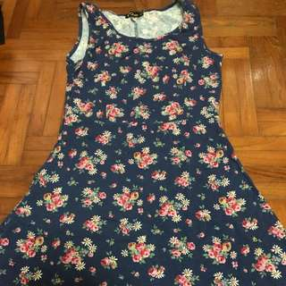 Floral jersey dress (Large) by moley apparels