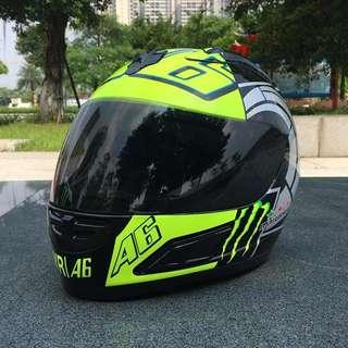 Malushun Helmet Rossi VR46 46 racing anti fog Monster
