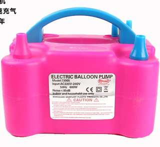 Balloons electrical pump