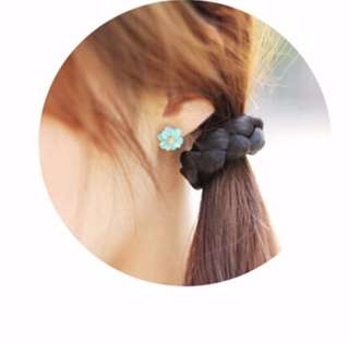 Braided Rope Tie Synthetic Hair ponytail Rubberband