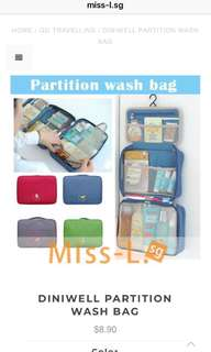🦄DINIWELL PARTITION WASH BAG