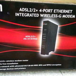 Aztech ADSL 2/2+ 4-port Ethernet Integrated wireless G-modem