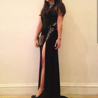 Black Velvet Sexy Long Gown
