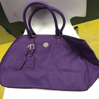 Tory Burch purple tote bag