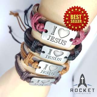 I LOVE JESUS Leather Bracelet (Available Now)
