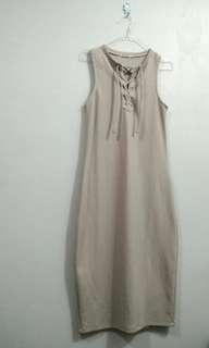 The half grey longdress