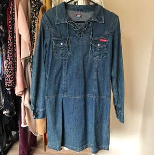 Vintage Denim Dress 🌈🍭