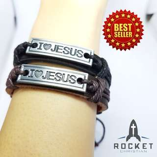 I <3 LOVE JESUS Leather Bracelet (Available Now)