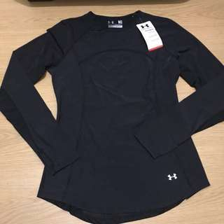 Under Armour Heat Gear Dri-Fit Long Sleeves Top (Medium)