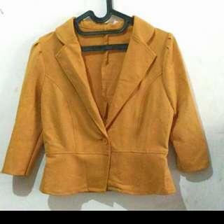 Set blazer skirt Yellow