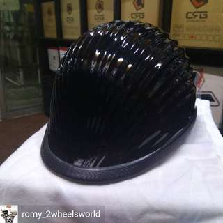AMZ Jockey Helmet Chopper Harley Cruiser