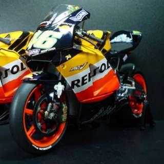 Minichamps 1:12 Honda RC211V · Repsor · Honda Team · Rider Valentino Rossi · MotoGP 2003 金屬 合金 電單車模型