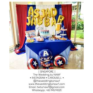 Party Setup A - Captain America Theme