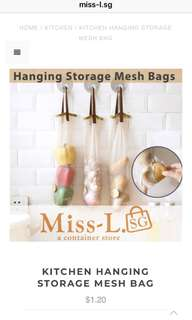 🦄KITCHEN HANGING STORAGE MESH BAG