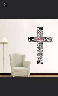 $15💥In Stock new crosses THE LORD English living room bedroom background Christian church decoration wall sticker/Home Decor