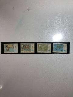 香港郵票-香港地圖