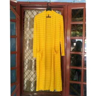 Long cardigan yellow