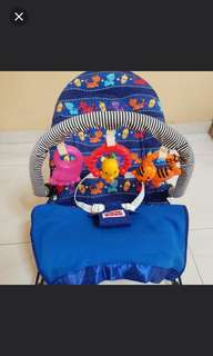😊 Fisher Price Bouncer + extra padded cover