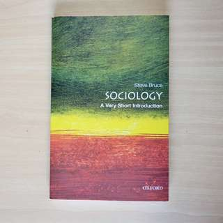 (NEW) Sociology - A Very Short Introduction (Oxford)