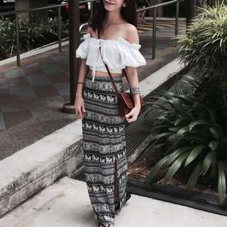 Elephant straight slit maxi