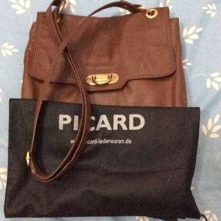picard leather bag (brown)