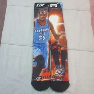 Legit Brand New With Tags For Bare Feet FBF NBA Kevin Durant Oklahoma City Thunder Socks Large