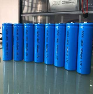 Quality Li-ion 18650 5000mAh 3.7v Rechargeable Batteries