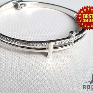 Silver Cross Bangle (Available Now)