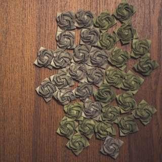摺紙玫瑰 水泥色系 川崎玫瑰 情人 敬師 裝飾 擺設 送禮 摺紙 心意 紙藝 驚喜 聖誕 灰色/墨綠色 生日 紀念 情侶
