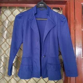 Cardigan biru pita