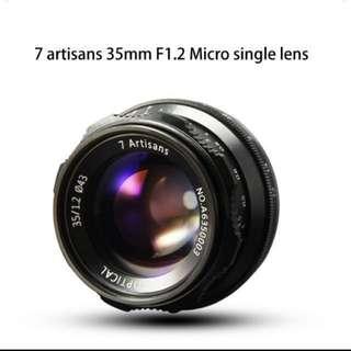 7artisans 35mm F1.2 (apsc)fx,Emount
