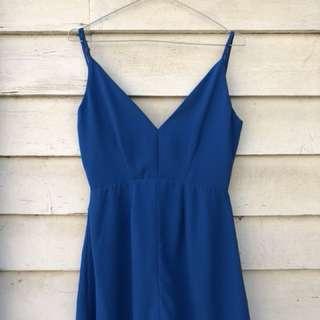Electric Blue Formal Cocktail Dress